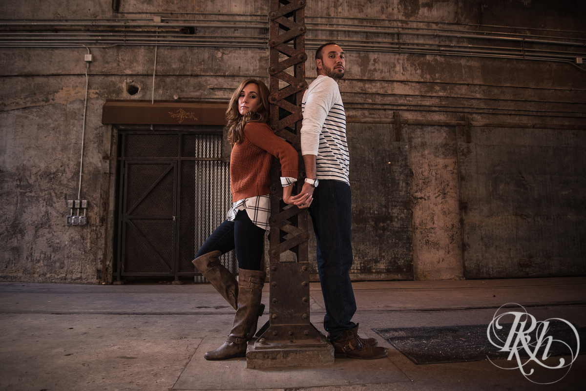Brittany & Justin - Minneapolis Engagement Photography - Mill City Ruins -63
