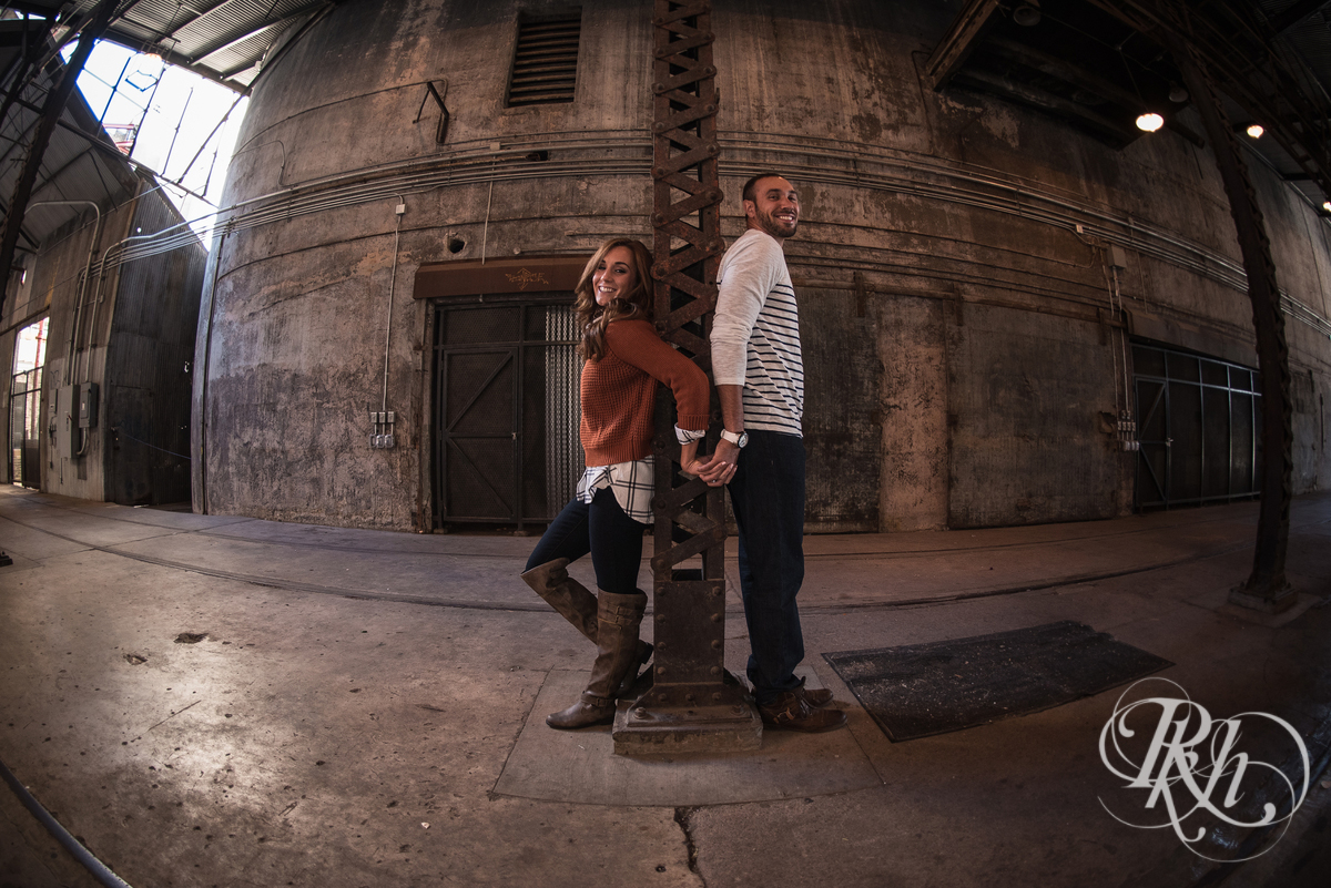Brittany & Justin - Minneapolis Engagement Photography - Mill City Ruins -67