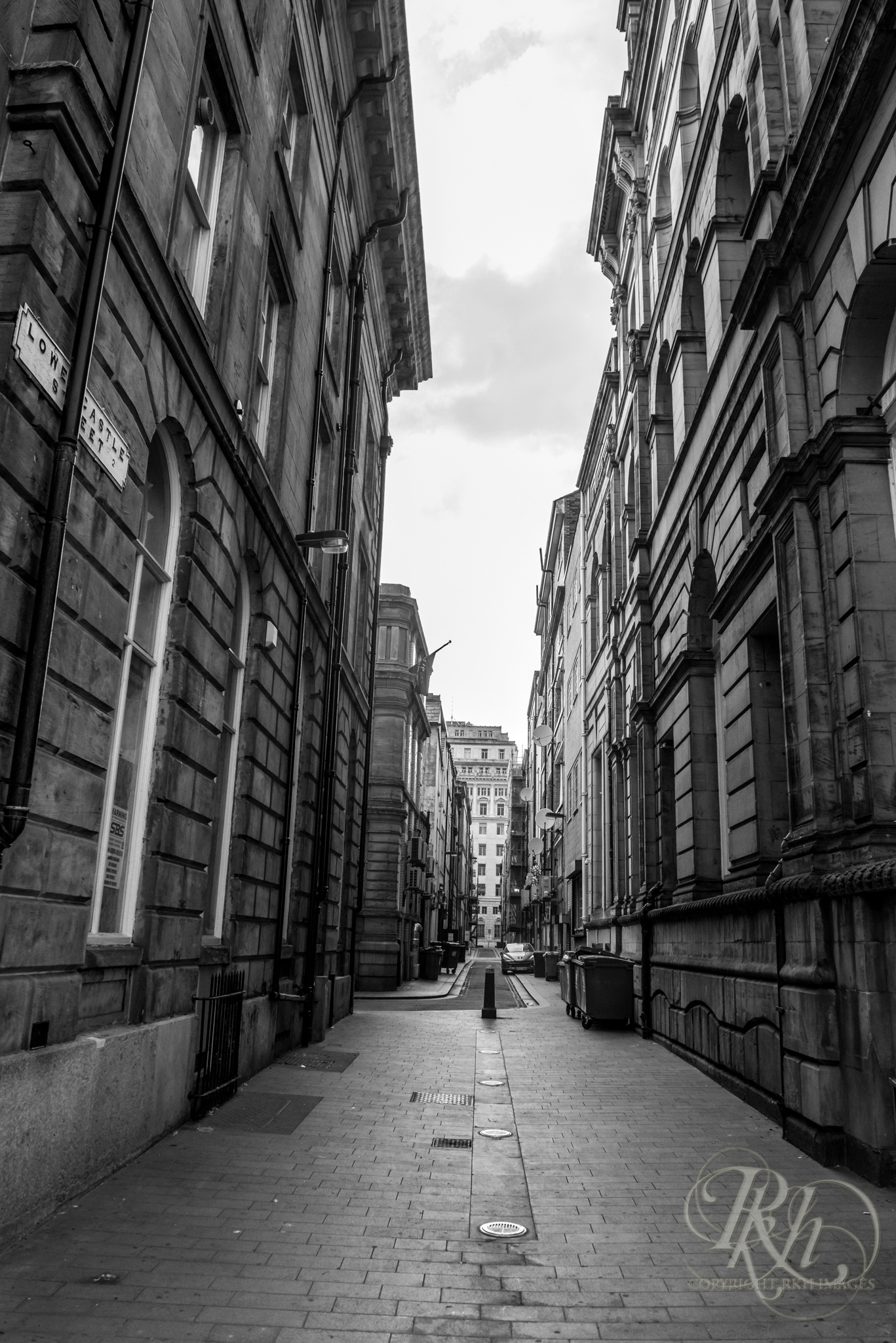 Liverpool alley fine art black and white photo rkh images