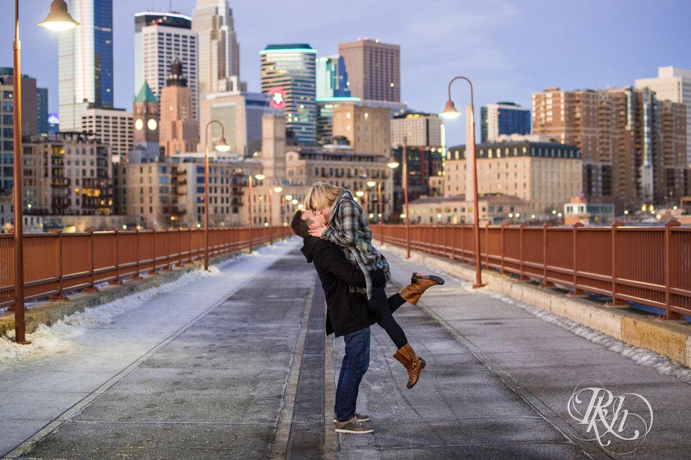 Kate & Kyle - Minnesota Sunrise Engagement Photography - Stone Arch Bridge - RKH Images (3 of 18).jpg