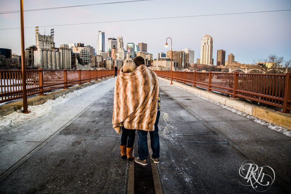 Kate & Kyle - Minnesota Sunrise Engagement Photography - Stone Arch Bridge - RKH Images (6 of 18).jpg