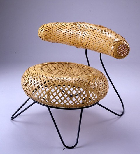 HBD #IsamuNoguchi 👆🏼Bamboo basket chair was a collab between Noguchi and #IsamuKenmochi.  Never manufactured and prototype lost but recreated by @noguchimuseum from photos👌🏼