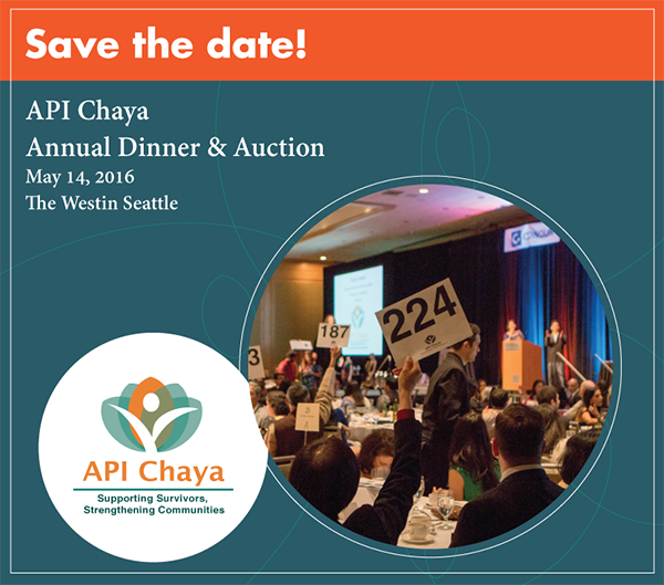 Save the Date for API Chaya's Annual Dinner and Auction!