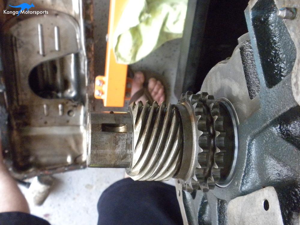 Datsun Engine Disassembly Crank Gear.JPG