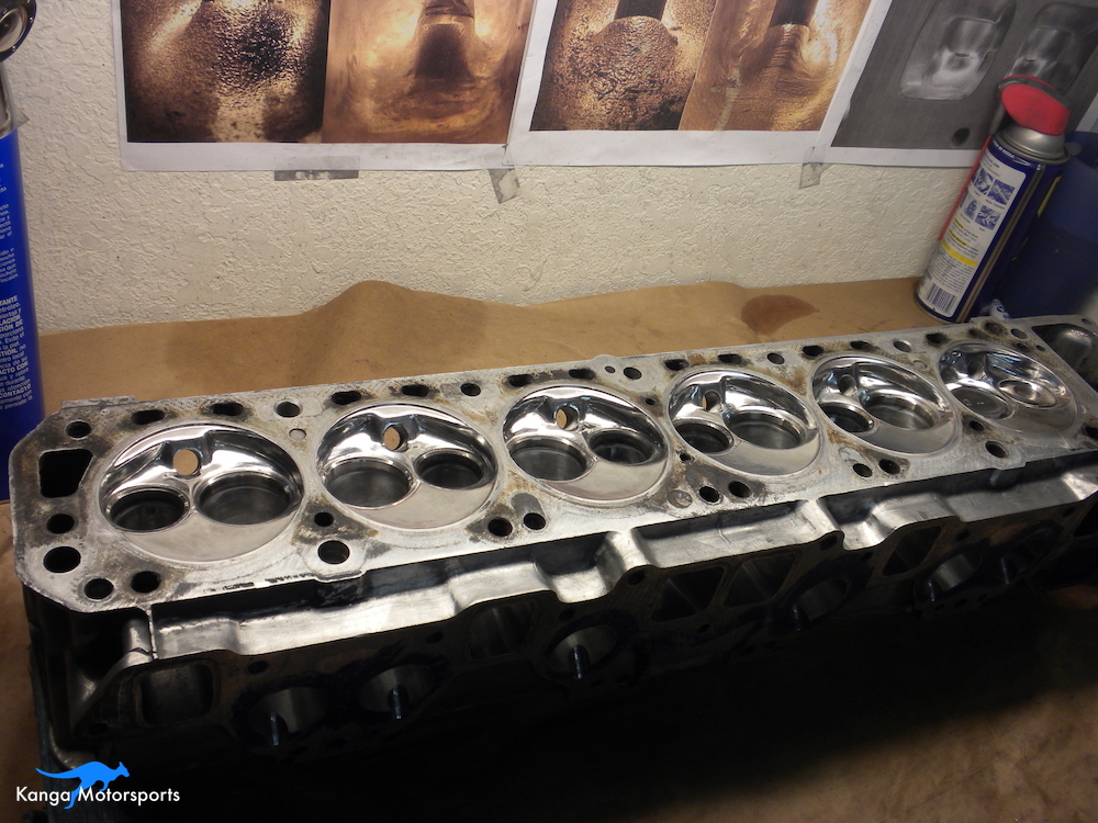 Datsun Cylinder Head Shiny Chambers 2.JPG