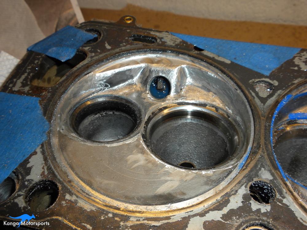 Datsun Cylinder Head Valve Unshrouding.JPG