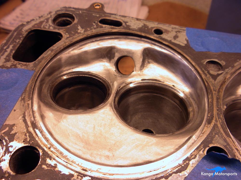 Datsun Cylinder Head Chamber Sanding.JPG