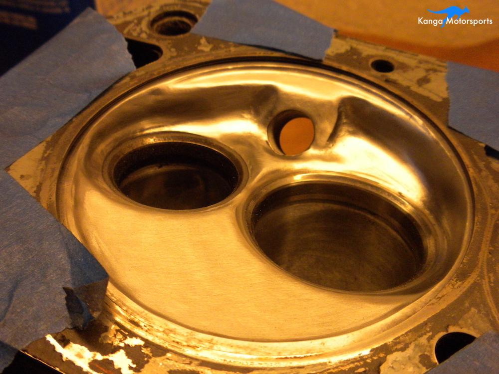 Datsun Cylinder Head Chamber Fine Buff.JPG