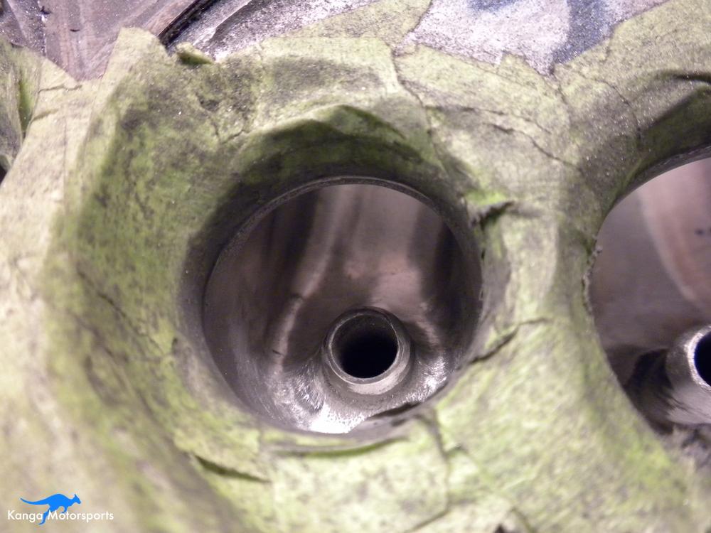 Datsun Cylinder Head Exhaust Bowl Sanding.JPG