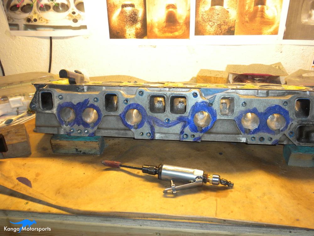 Datsun Cylinder Head Sanding Scrolls Die Grinder.JPG