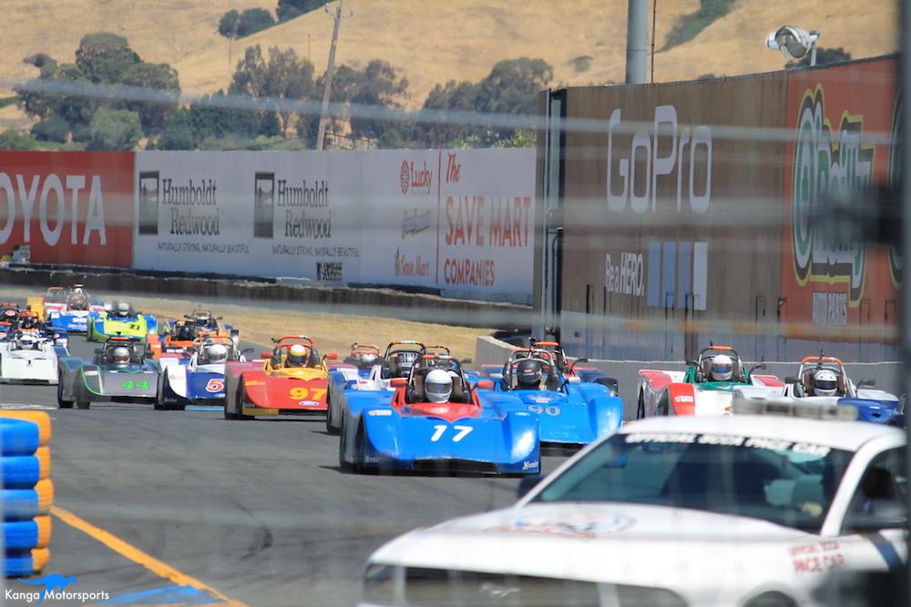 Spec Racer Ford Kanga Motorsports Sonoma Raceway Race 2 Gen3 Start.JPG