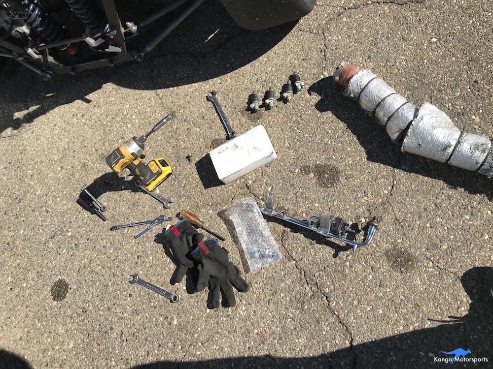 Relacing Injectors Kanga Motorsports SCCA Spec Racer Ford Parts Removed.JPG