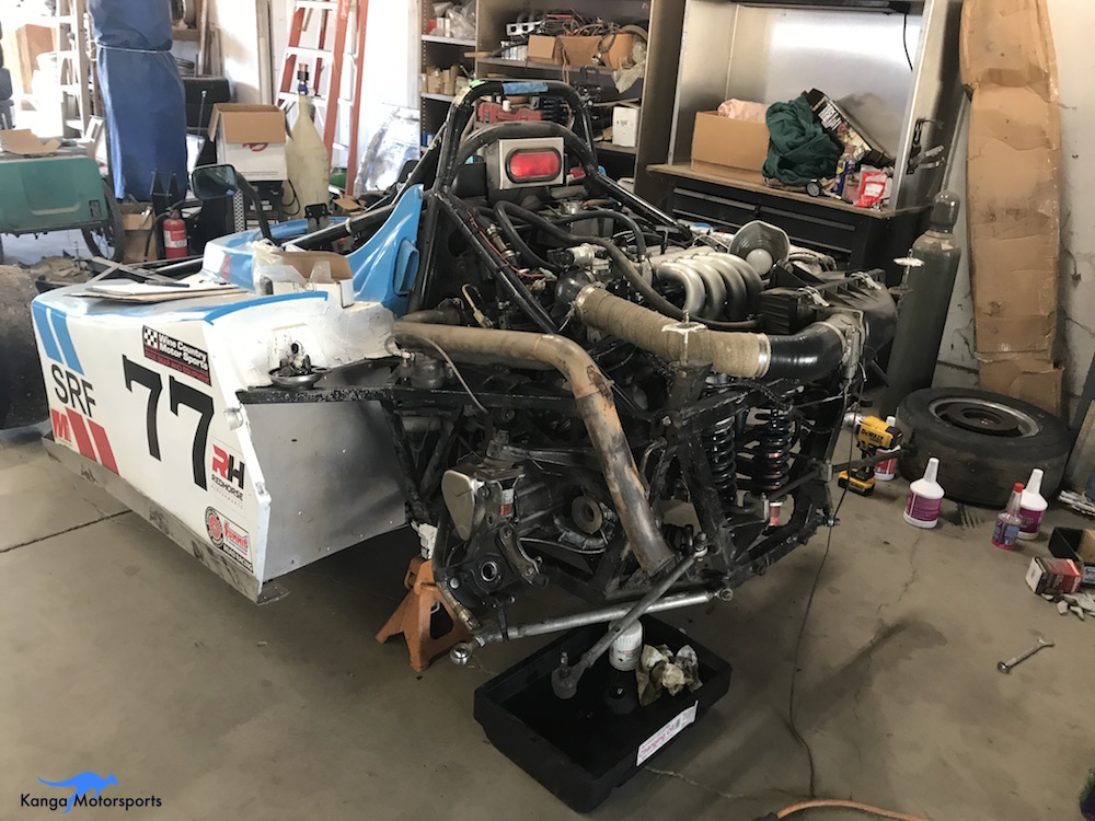 Kanga Motorsports Spec Racer Ford Halfshaft Servicing Raise the Car into the Air.JPG