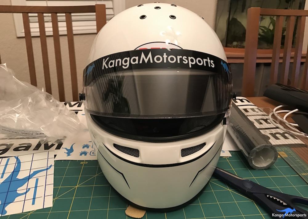 Kanga Motorsports Making Vinyl Helmet Details Added.JPG
