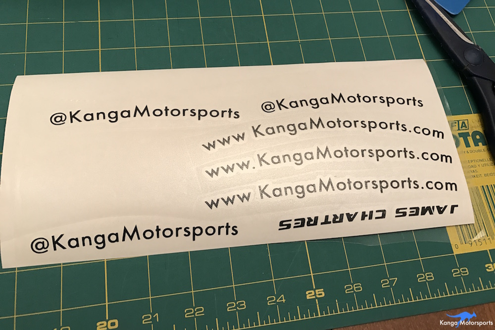 Kanga Motorsports Making Vinyl Helmet Details Transfer Tape Placement.JPG