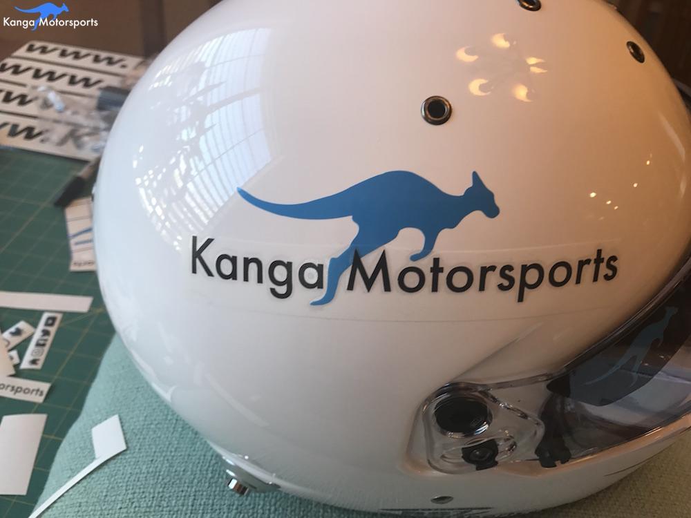 Kanga Motorsports Making Vinyl Logo Placement.JPG