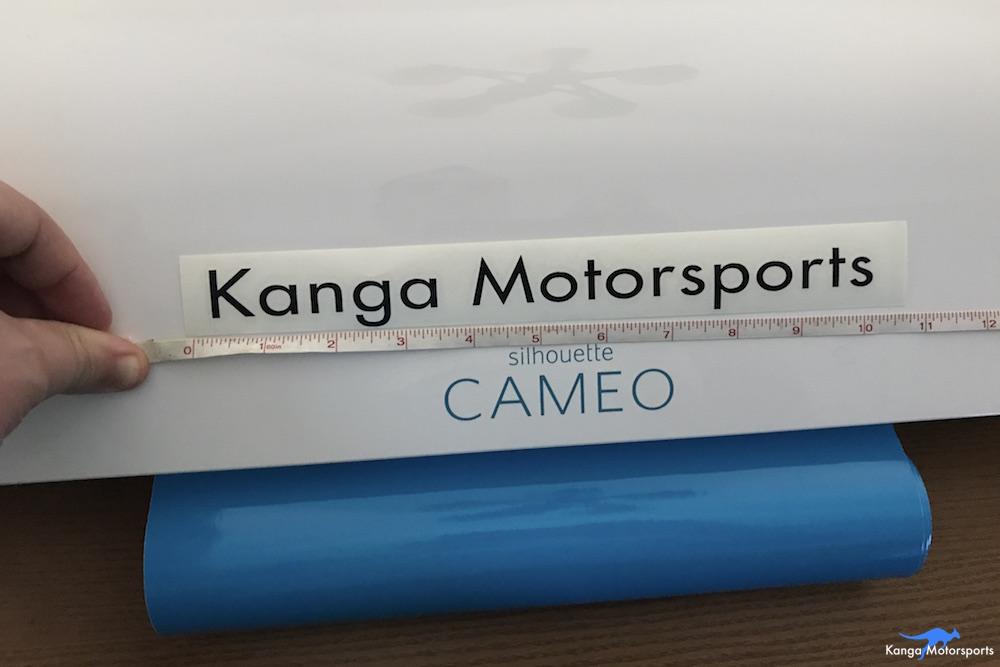 Kanga Motorsports Making Vinyl Measuring the PlacementJPG.JPG