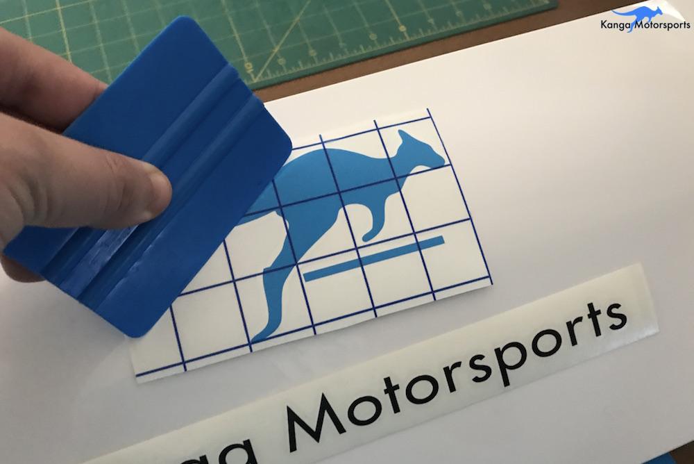 Kanga Motorsports Making Vinyl Smoothing Out Transfer Tape.JPG