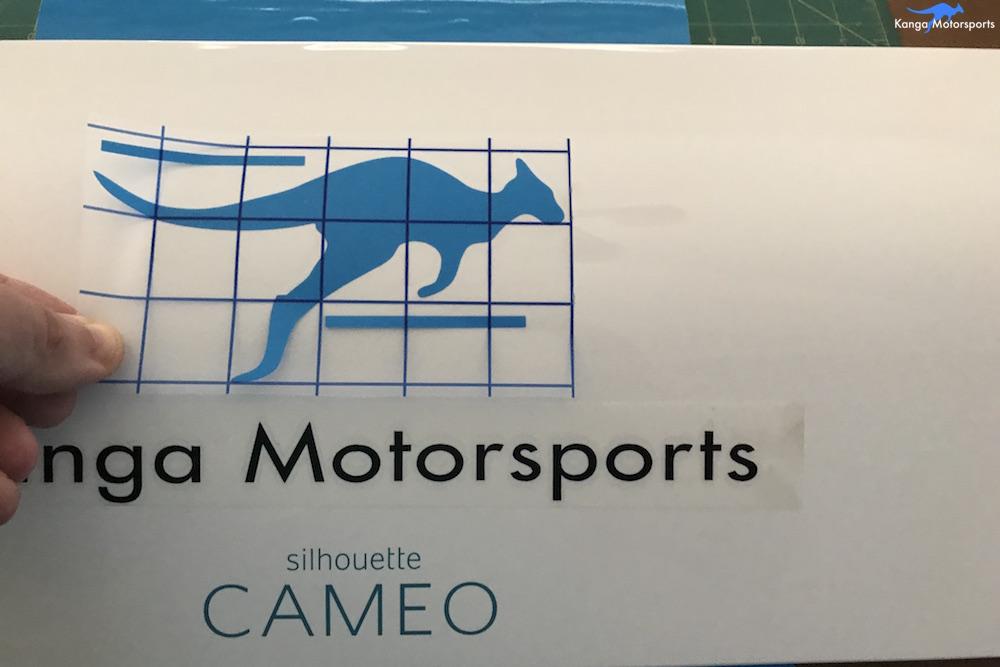 Kanga Motorsports Making Vinyl Placement.JPG