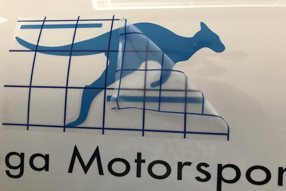 making racecar vinyl decals kanga motorsports