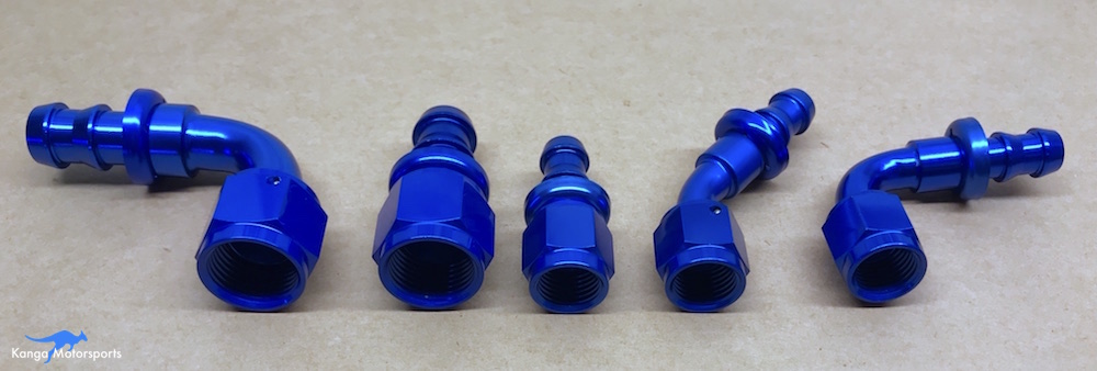 Kanga Motorsports AN fittings different sizes and angles push lock.JPG