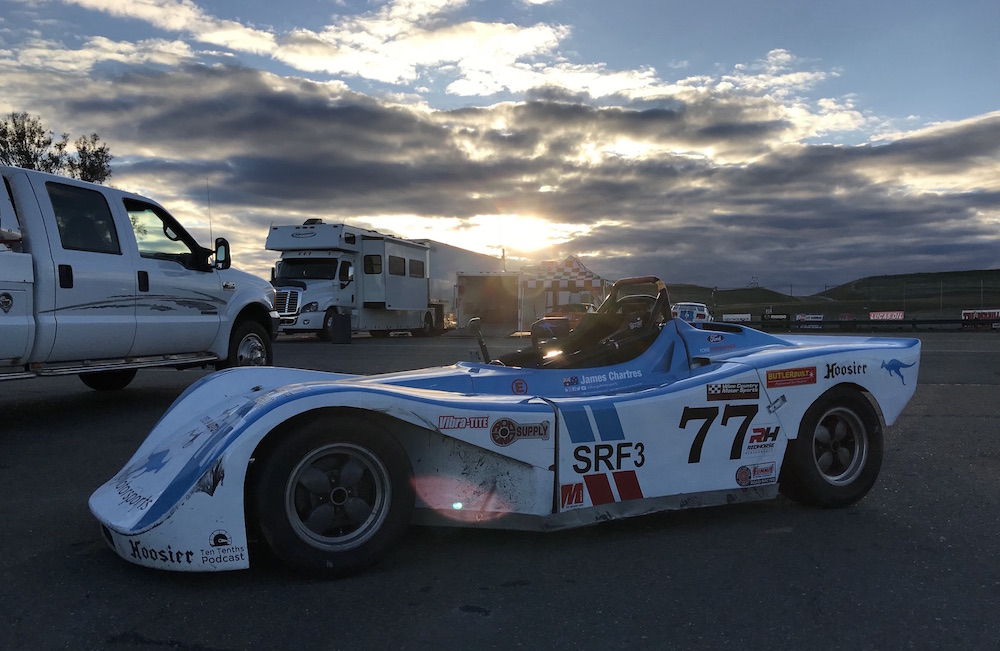 Kanga Motorsports Spec Racer Ford Gen3 SCCA Thunderhill March 2018 Raceway Sunset.JPG