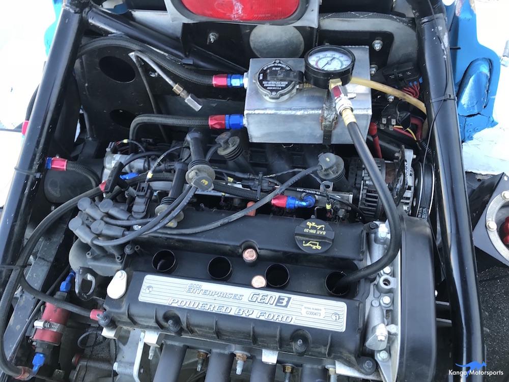 Kanga Motorsports Spec Racer Ford Compression Test Install Compression Gauge.JPG