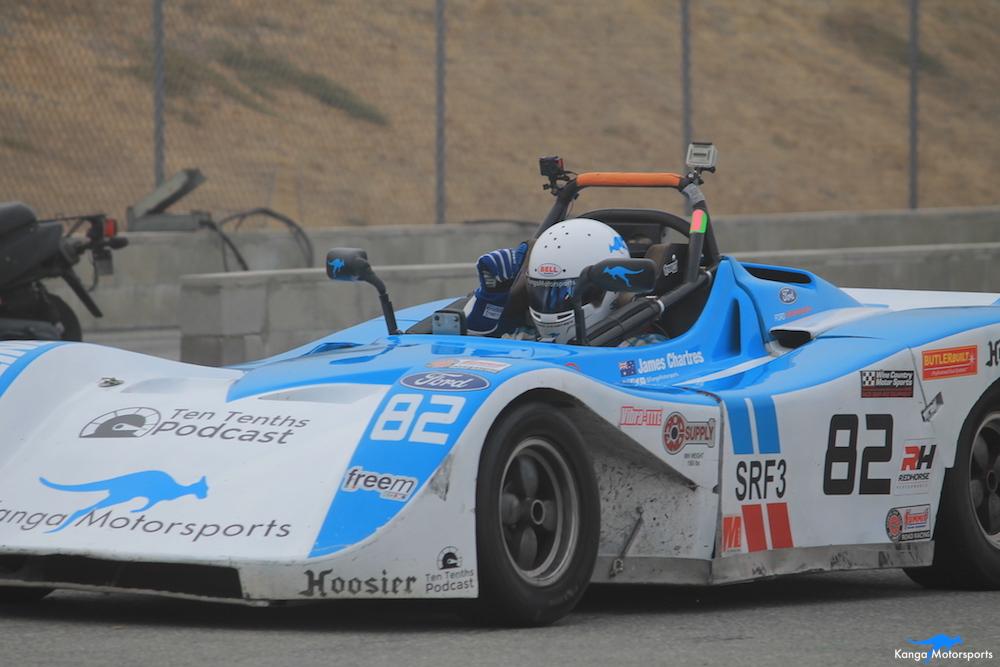 Kanga Motorsports 2018 WeatherTech Raceway Laguna Seca  Spec Racer Ford Gen3 Heading Out on Track.JPG