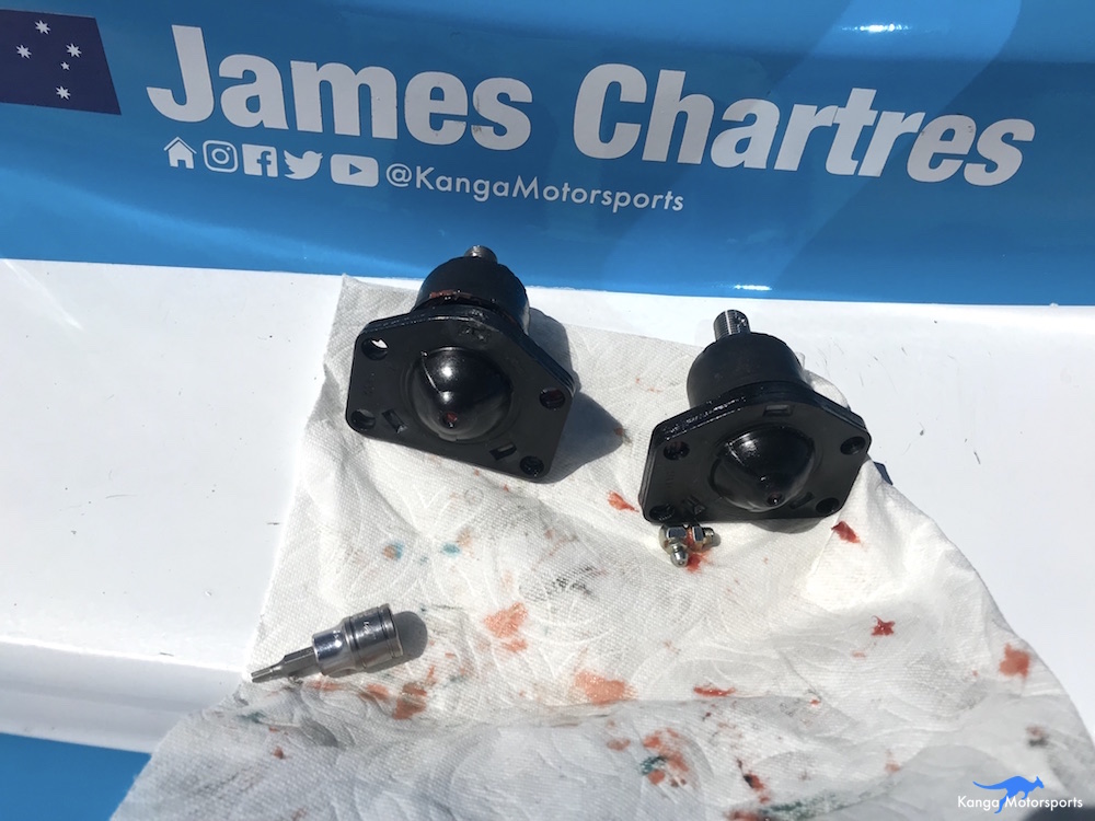 Kanga Motorsports Spec Racer Ford Gen3 Upper Ball Joint Replacement New Upper Ball Joints.JPG