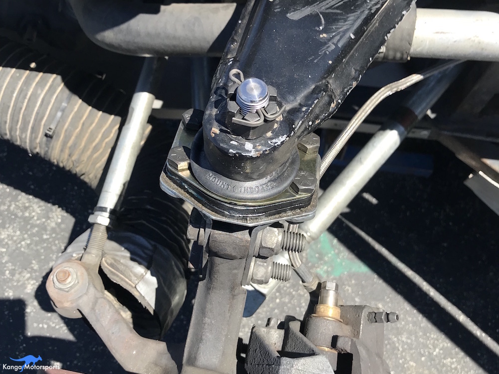 Kanga Motorsports Spec Racer Ford Gen3 Upper Ball Joint Replacement Tighten Down the Castle Nut.JPG