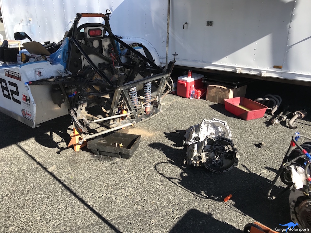 Kanga Motorsports SCCA Runoffs Spec Racer Ford Gen3 Sonoma Raceway Replacing the Transmission.JPG
