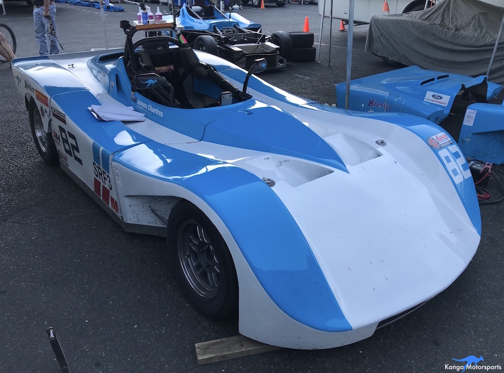 Kanga Motorsports SCCA Runoffs Spec Racer Ford Gen3 Sonoma Raceway Working Through Checklist.JPG