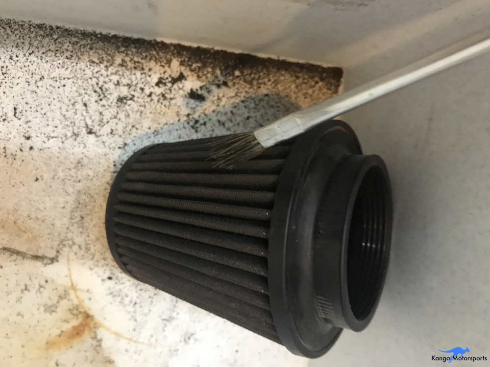 Kanga Motorsports Spec Racer Ford Gen3 Air Filter Maintenace Tap and Brush Out Heavy Dirt.jpg