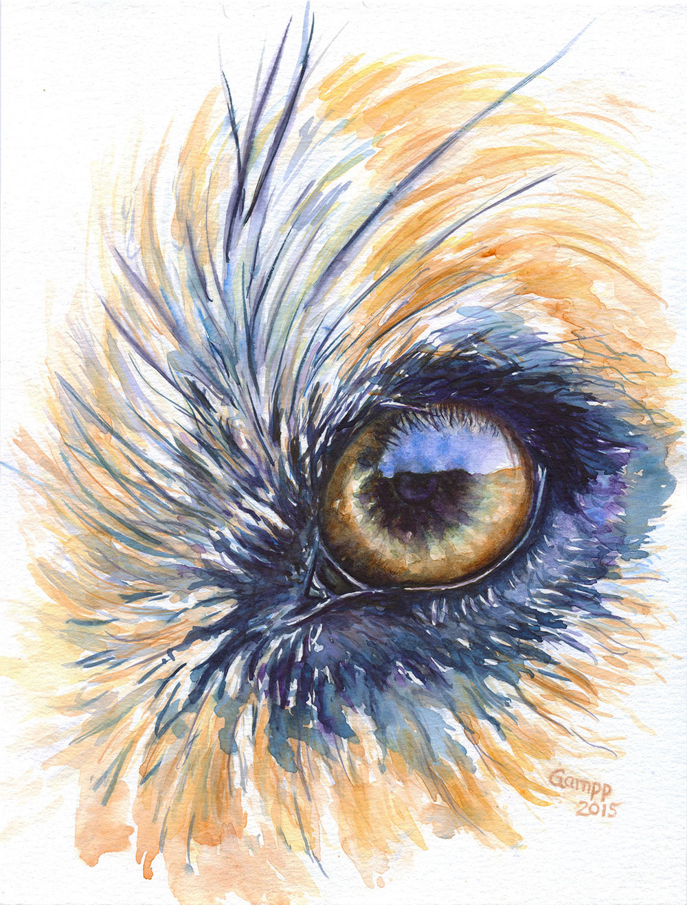 Painting of dog eye.