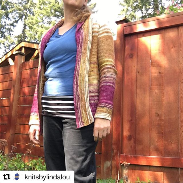 Look at this beautiful Comfort Fade Cardi knit by @knitsbylindalou !! . #Repost @knitsbylindalou with @get_repost ・・・ Finally took some decent pictures of my Comfort Fade Cardi. Yarn is from @fiberandhue and @ritualdyes. I seriously have been living in this sweater since I finished it! #knitsbylindalou #comfortfadecardi #dreareneeknits #fiberandhue #ritualdyes #knitcardigan #knitsweater #sweaterknitting #handknit #handmadewardrobe #slowfashion #memade #imadethis