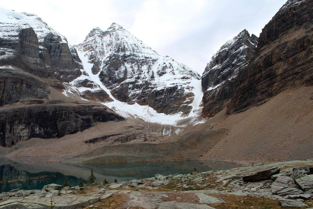 """Lake Oesa. It has been said that """"oesa"""" is an Indigenous word for """"ice""""."""