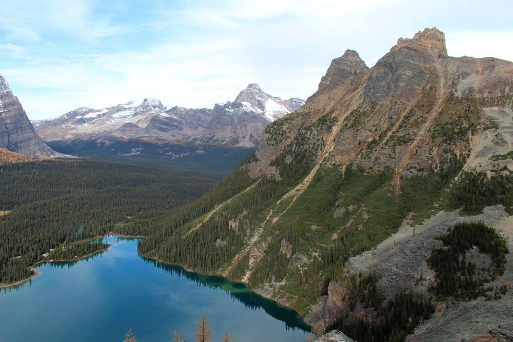 Looking back at Wiwaxy Peak at Lake O'Hara, Yoho National Park, BC.