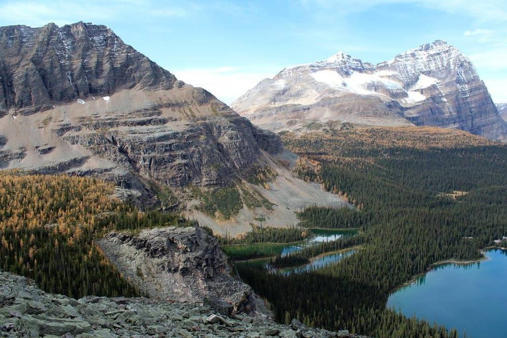 Overlooking Lake O'Hara, Yoho National Park, BC.