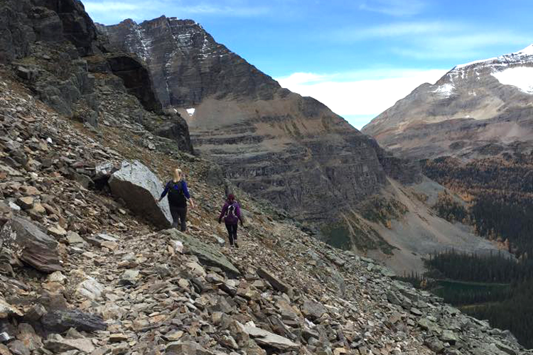 Although the All Soul's trail was somewhat narrow and the slope steep, the rocks were big enough to provide a feeling of stability, much better than hiking on tiny, loose scree.