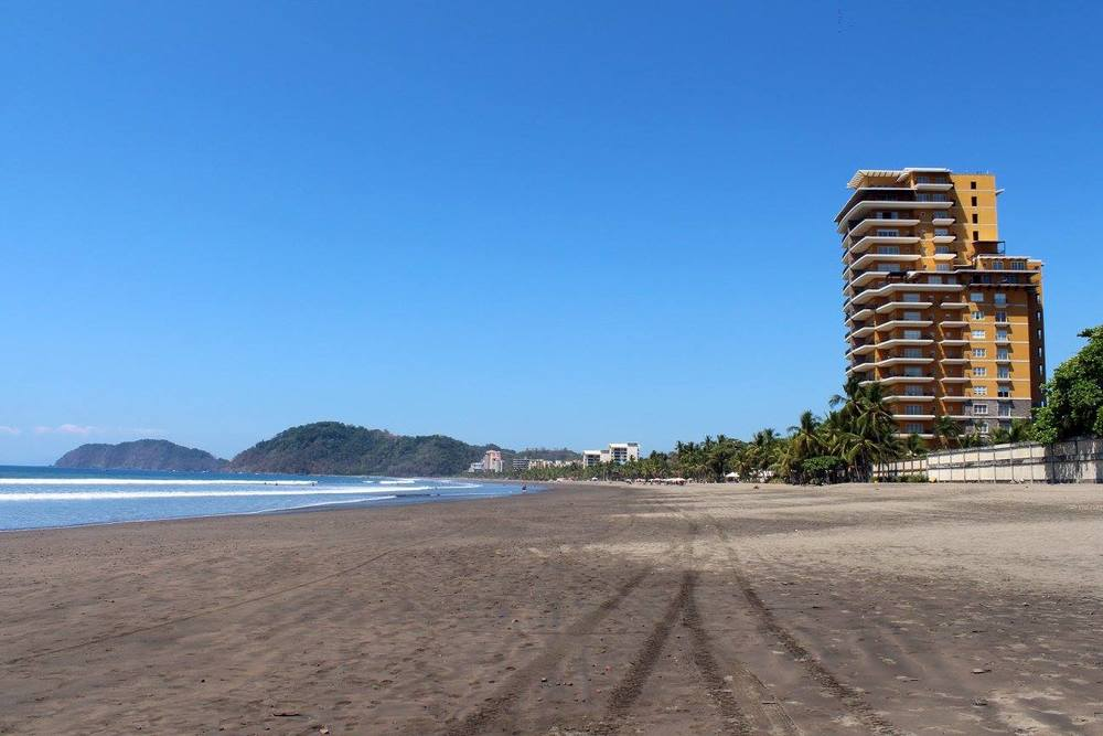 Our first day - wandering Jaco Beach, Costa Rica.