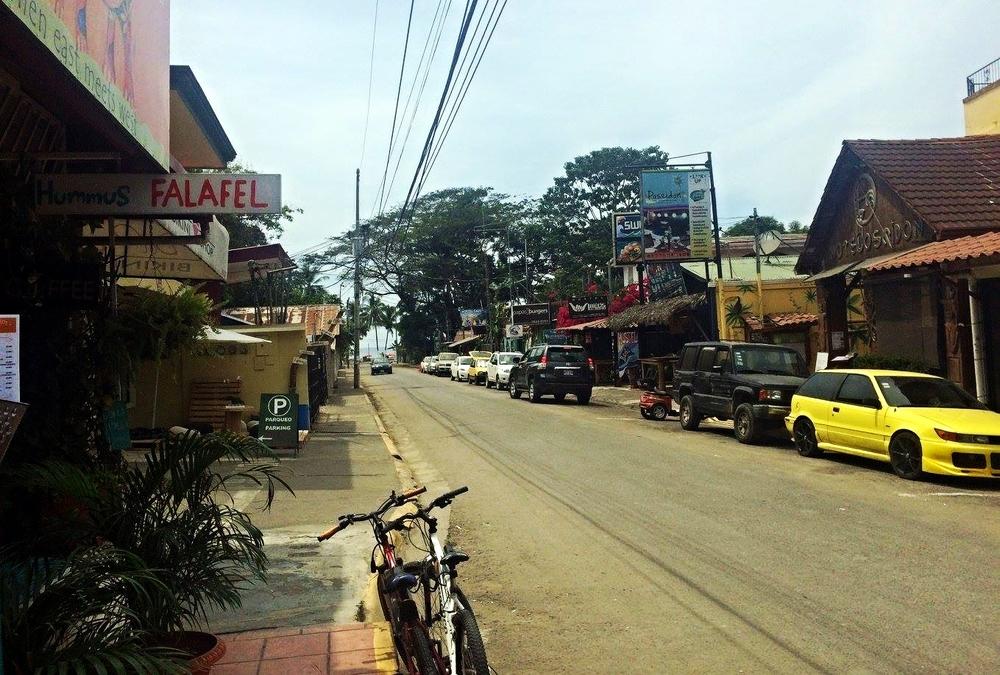 Side street in Jaco, Costa Rica.