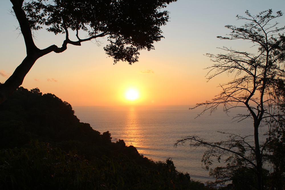 Watching the sunset from Donde Miro Trail, Jaco, Costa Rica