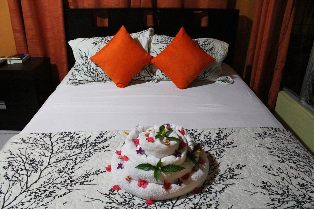 Our room at Hotel Las Flores, La Fortuna, Costa Rica.