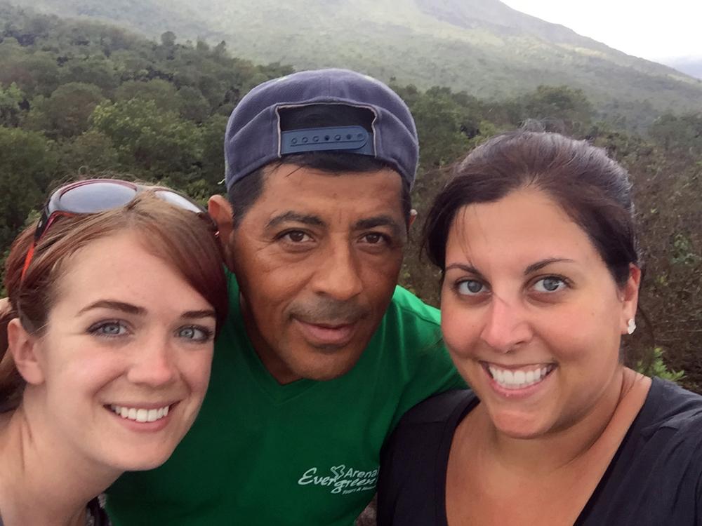 Me, Felix and Tara in Arenal Volcano National Park.