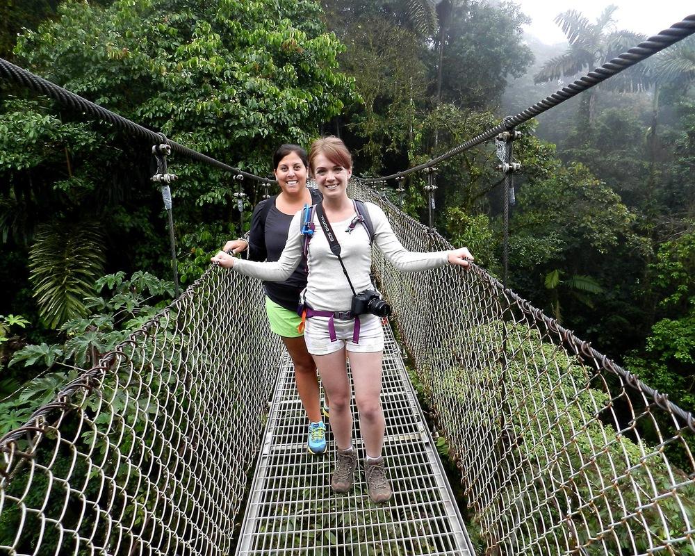 Me and Tara at the Arenal Hanging Bridges Park.