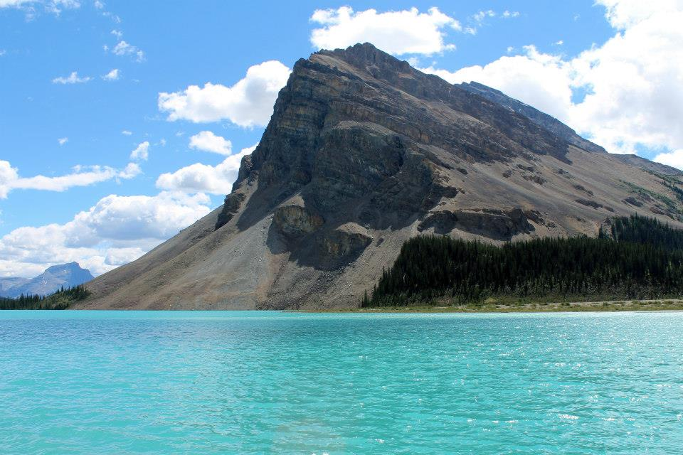 Bow Lake on the Icefields Parkway in Banff National Park.
