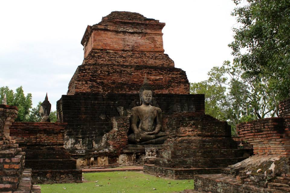 Ancient ruins in Sukhothai Historical Park, Thailand.