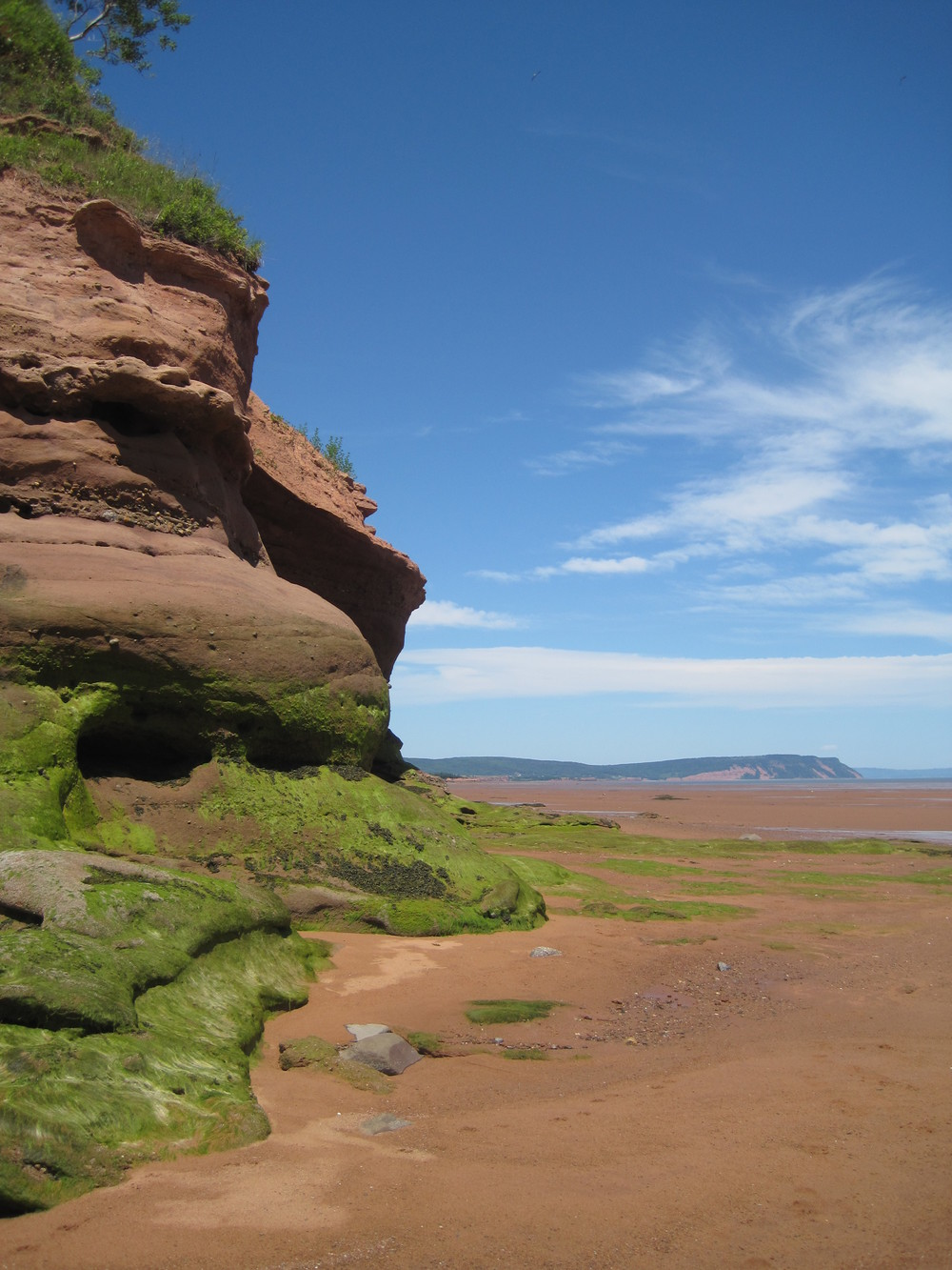 Kingsport Beach is my favourite beach in Nova Scotia for its red clay sand.