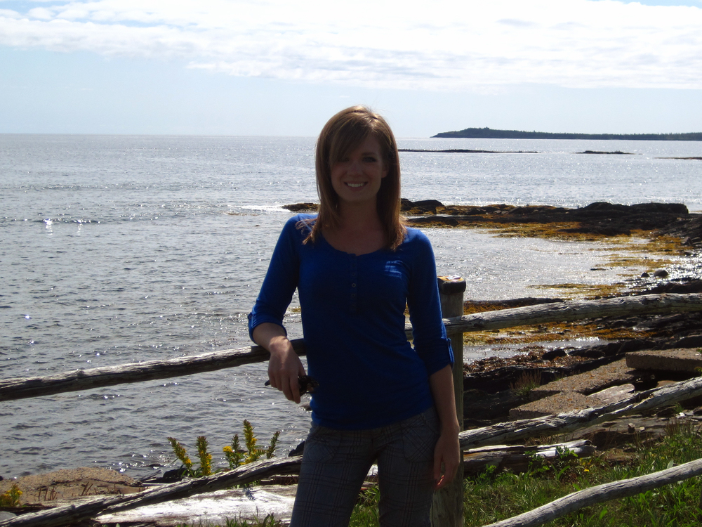 At the Ovens Natural Park sea caves in Nova Scotia.