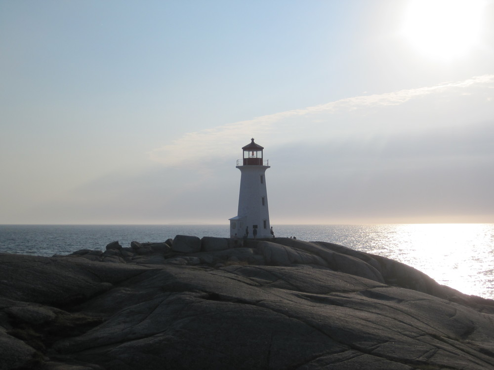 The famous Peggy's Cove lighthouse in Nova Scotia.